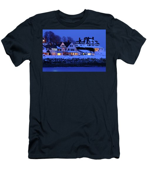 Winter Waterfront Men's T-Shirt (Slim Fit) by James Kirkikis
