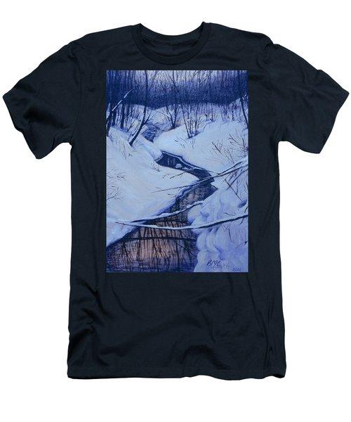 Winter's Stream Men's T-Shirt (Athletic Fit)