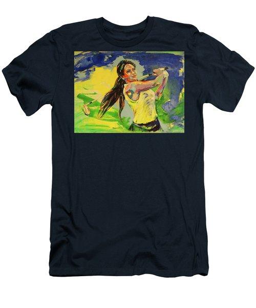Wird Es Das Grun Erreichen  Will It Reach The Green Men's T-Shirt (Slim Fit) by Koro Arandia