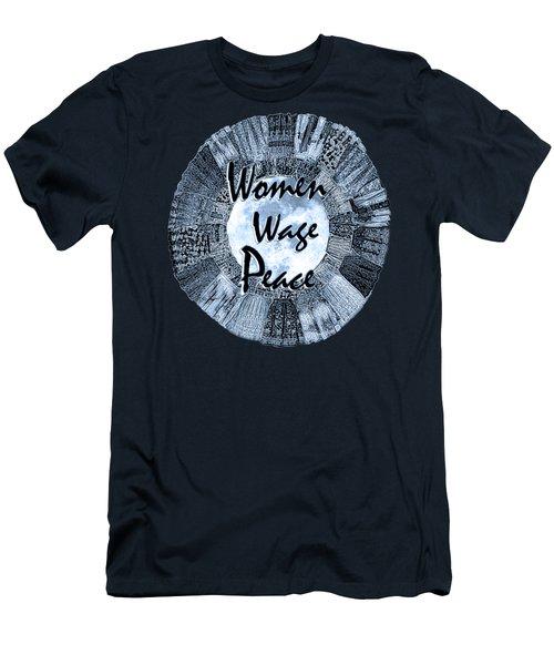 Women Wage Peace Blue Men's T-Shirt (Slim Fit) by Michele Avanti