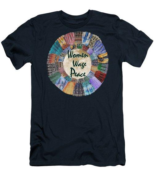 Women Wage Peace Men's T-Shirt (Slim Fit) by Michele Avanti