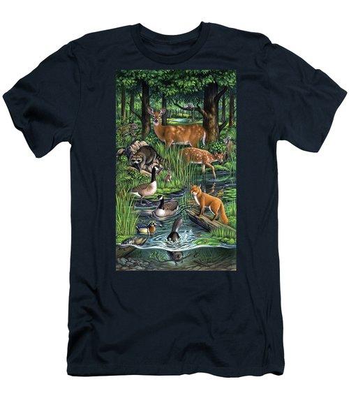 Woodland Men's T-Shirt (Athletic Fit)