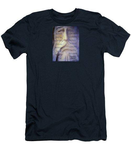 Works Of Mercy Men's T-Shirt (Slim Fit) by Jean OKeeffe Macro Abundance Art