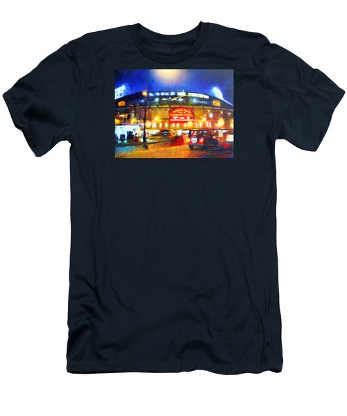 Wrigley Field Home Of Chicago Cubs Men's T-Shirt (Athletic Fit)