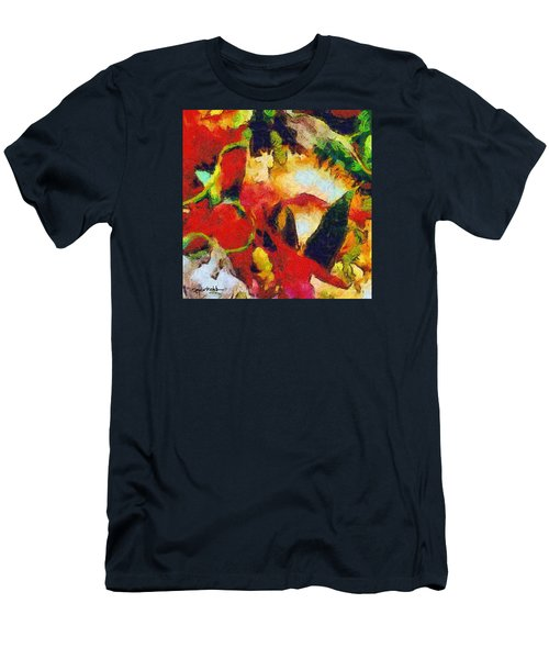 Men's T-Shirt (Slim Fit) featuring the photograph Xtreme Floral Four by Spyder Webb