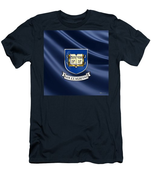 Yale University Coat Of Arms.  Men's T-Shirt (Slim Fit) by Serge Averbukh