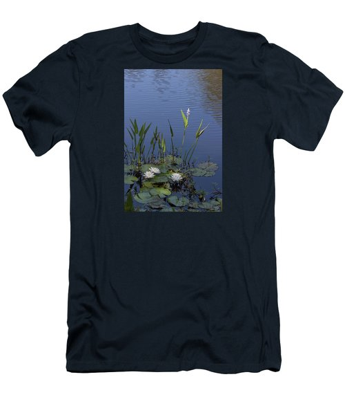 Yawkey Wildlife Reguge Water Lilies With Rare Plant Men's T-Shirt (Slim Fit) by Suzanne Gaff