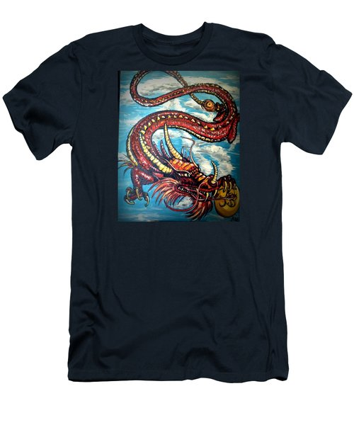 Year Of The Dragon Men's T-Shirt (Slim Fit) by Alexandria Weaselwise Busen
