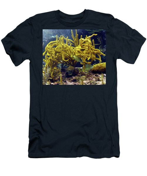 Men's T-Shirt (Athletic Fit) featuring the photograph Yellow Coral Dance by Francesca Mackenney
