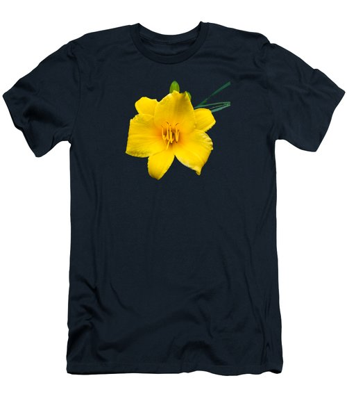 Yellow Daylily Flower Men's T-Shirt (Athletic Fit)
