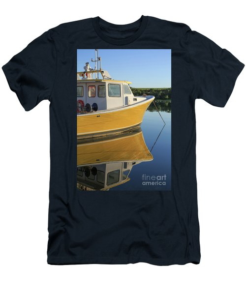 Yellow Fishing Boat Early Morning Men's T-Shirt (Athletic Fit)