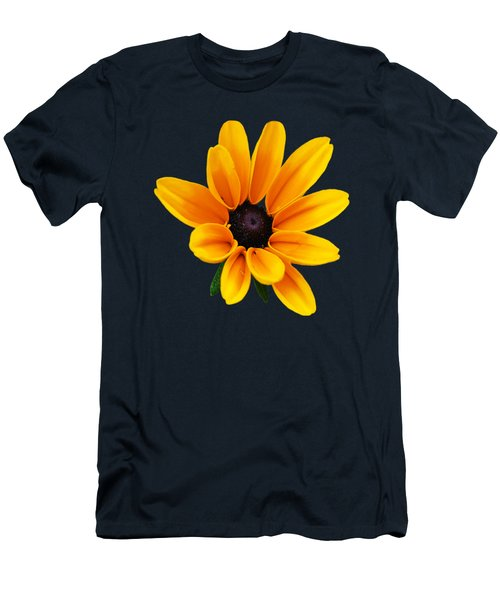 Yellow Flower Black-eyed Susan Men's T-Shirt (Slim Fit) by Christina Rollo