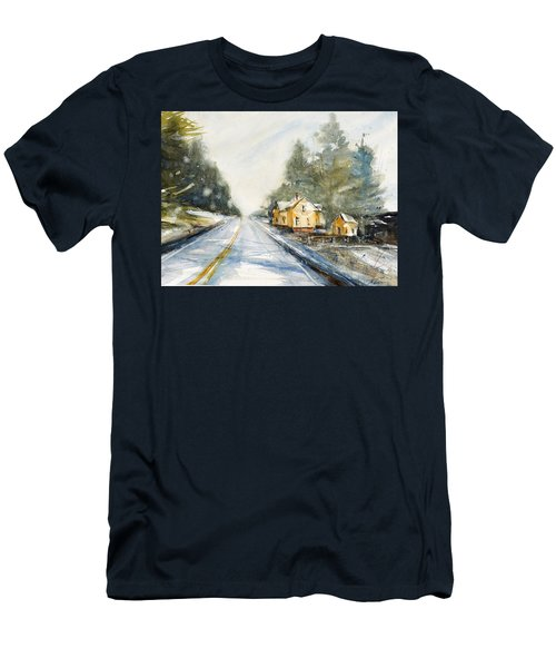 Yellow House On The Right Men's T-Shirt (Slim Fit) by Judith Levins