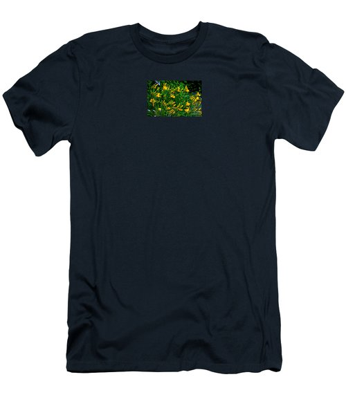 Men's T-Shirt (Slim Fit) featuring the photograph Yellow Lily Flowers by Susanne Van Hulst