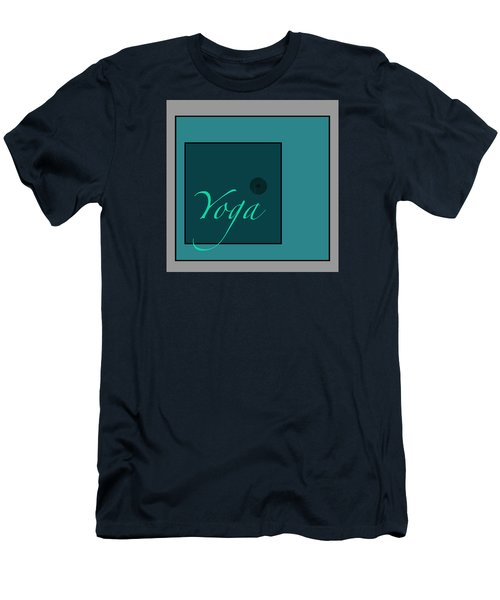 Yoga In Blue Men's T-Shirt (Slim Fit) by Kandy Hurley