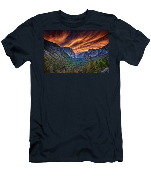 Yosemite Fire Men's T-Shirt (Slim Fit) by Rick Berk