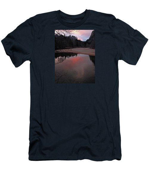 Men's T-Shirt (Athletic Fit) featuring the photograph Yosemite Reflections 01 2015 by Walter Fahmy