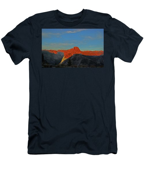 Men's T-Shirt (Athletic Fit) featuring the photograph Yosemite Summer Sunset Abstracted 1 by Walter Fahmy