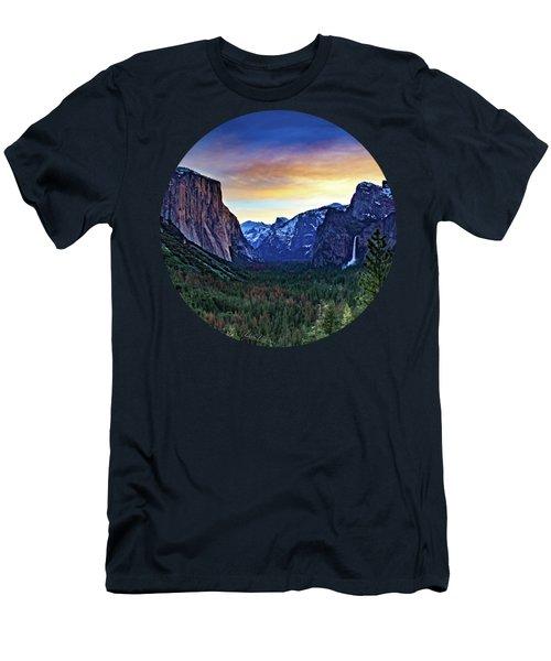 Yosemite Sunrise Men's T-Shirt (Slim Fit) by Adam Morsa