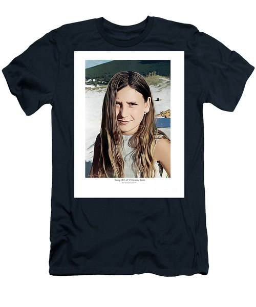 Young Girl, Spain Men's T-Shirt (Slim Fit) by Kenneth De Tore