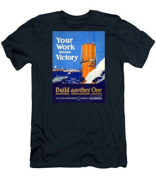 Your Work Means Victory Vintage Wwi Poster Men's T-Shirt (Slim Fit) by Carsten Reisinger