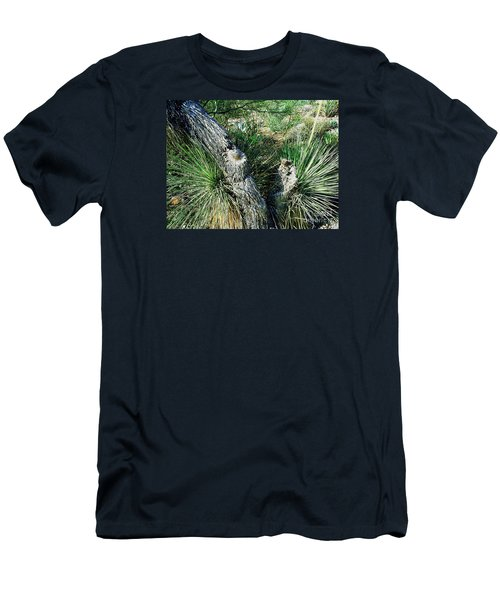 Men's T-Shirt (Slim Fit) featuring the photograph Yucca Cactus On The Arizona Desert by Merton Allen