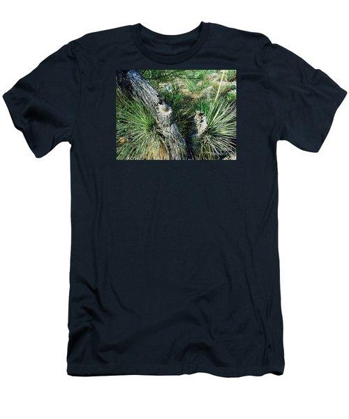 Yucca Cactus On The Arizona Desert Men's T-Shirt (Slim Fit) by Merton Allen