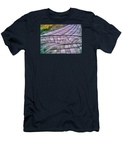 Men's T-Shirt (Slim Fit) featuring the drawing Yury Bashkin Net by Yury Bashkin