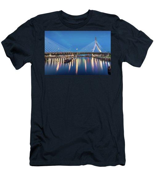 Zakim Bridge And Charles River At Dawn Men's T-Shirt (Athletic Fit)
