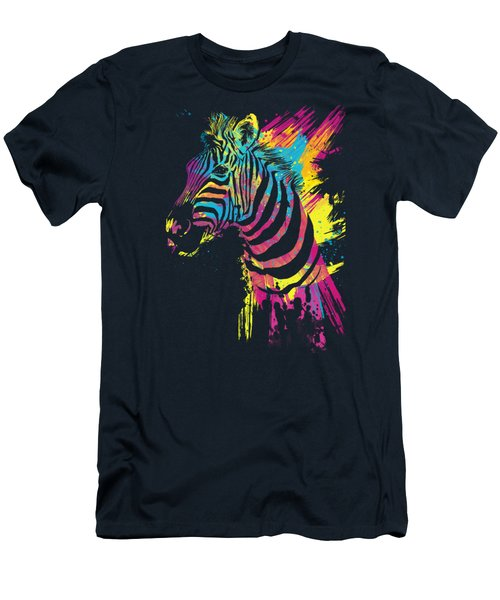 Zebra Splatters Men's T-Shirt (Athletic Fit)
