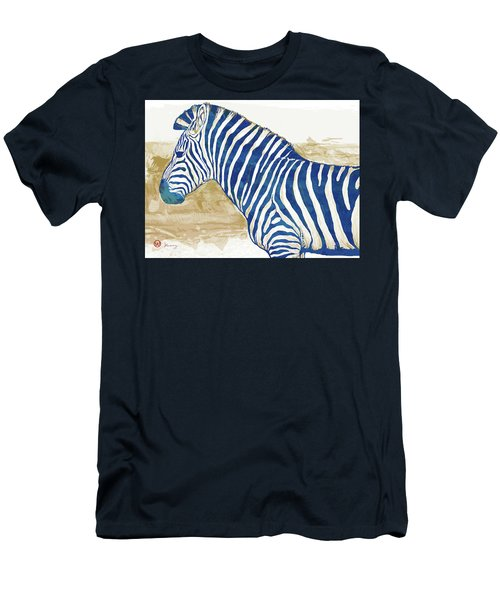 Zebra - Stylised Pop Art Poster Men's T-Shirt (Athletic Fit)