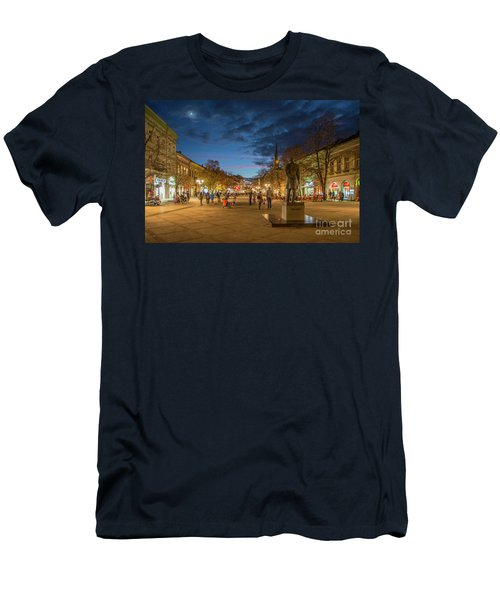 Zmaj Jovina Street In Moonlight Men's T-Shirt (Athletic Fit)
