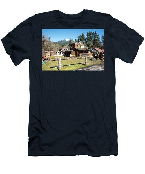 Glacier Coffee Shop Men's T-Shirt (Athletic Fit)