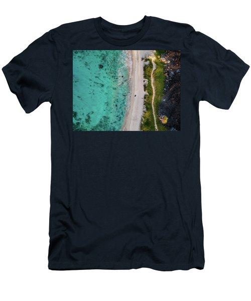 Makalawena Beach Men's T-Shirt (Athletic Fit)