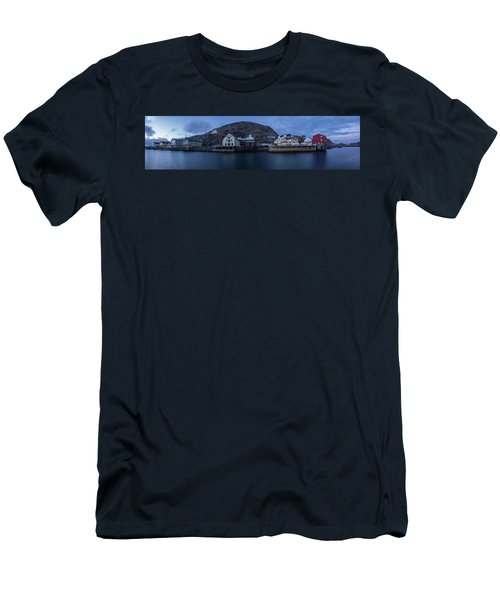 Norwegian Seaside Town Nyksund Men's T-Shirt (Athletic Fit)