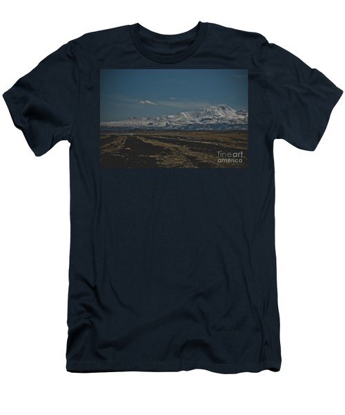 Snow-covered Mountains In The Turkish Region Of Capaddocia. Men's T-Shirt (Athletic Fit)