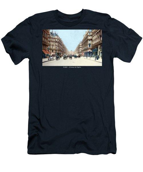 1910 The Avenue De L'opera, Paris Men's T-Shirt (Athletic Fit)