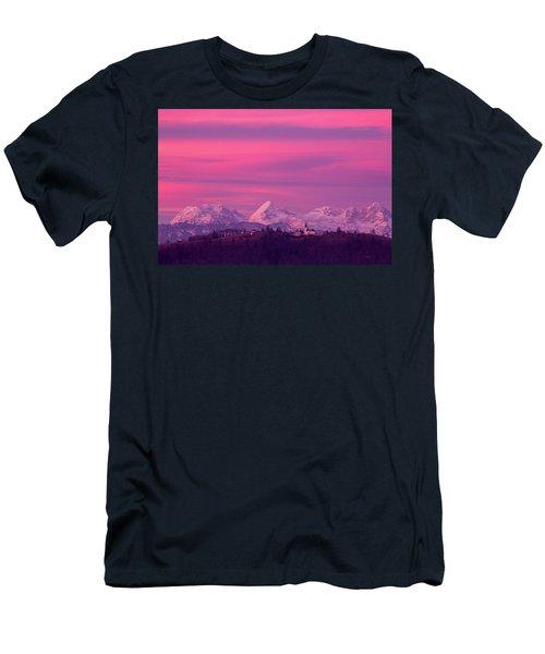 Church Of Saint Nicholas At Sunset Men's T-Shirt (Athletic Fit)