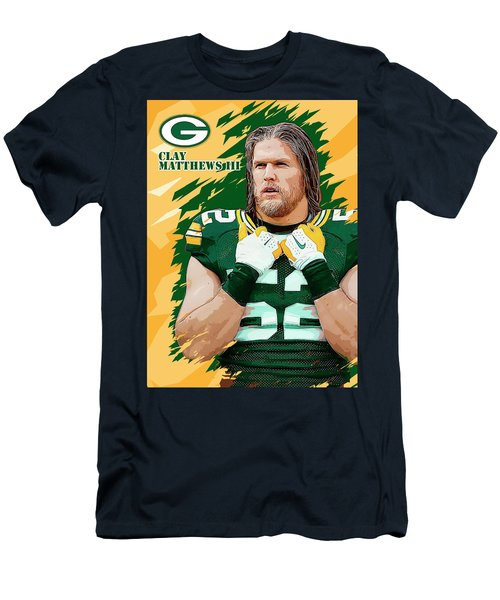 Clay Matthews IIi. Green Bay Packers. Men's T-Shirt (Athletic Fit)