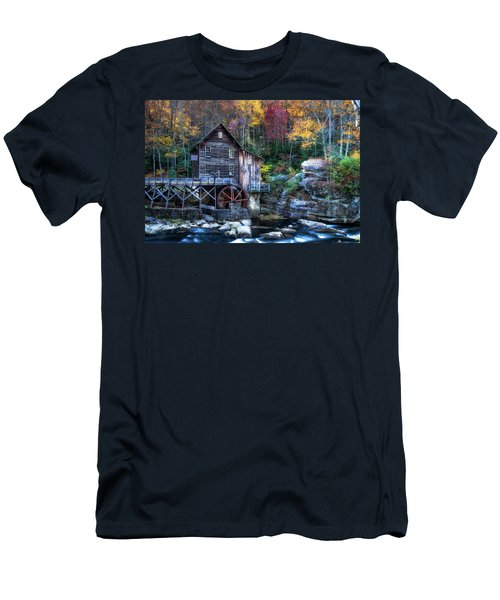 Men's T-Shirt (Athletic Fit) featuring the photograph Glade Creek Grist Mill  by Pete Federico