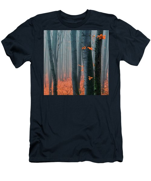 Orange Wood Men's T-Shirt (Athletic Fit)
