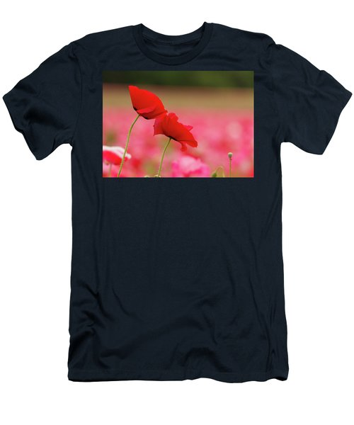 A Tale Of  Two Poppies Men's T-Shirt (Athletic Fit)