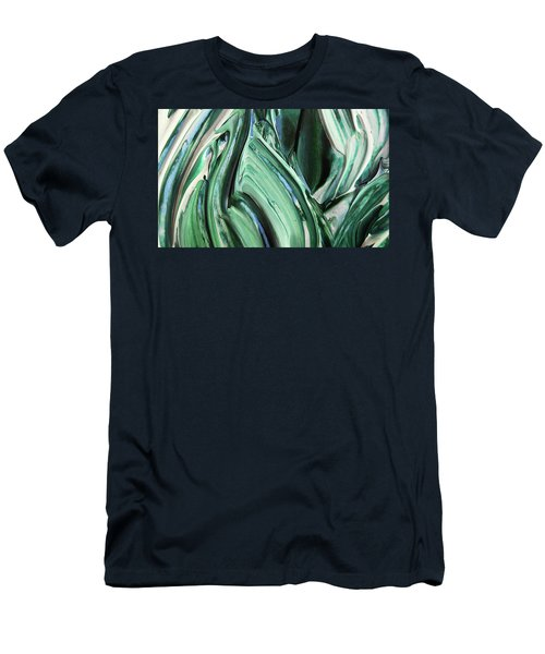 Abstract Organic Lines The Flow Of Blue And Green  Men's T-Shirt (Athletic Fit)