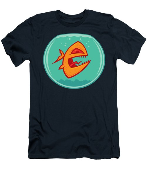 Angry Goldfish Men's T-Shirt (Athletic Fit)