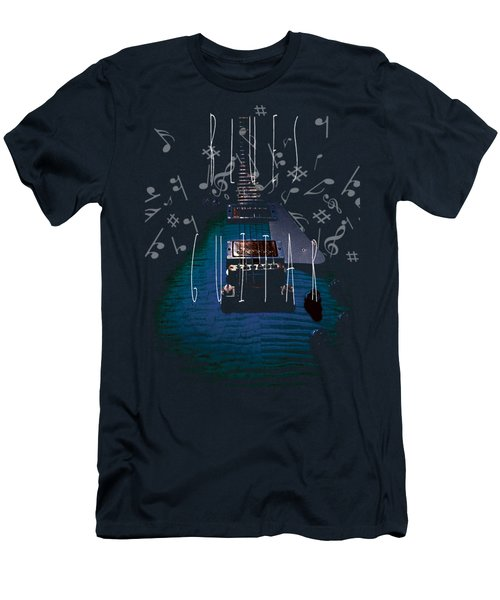 Blues Guitar Music Notes Men's T-Shirt (Athletic Fit)