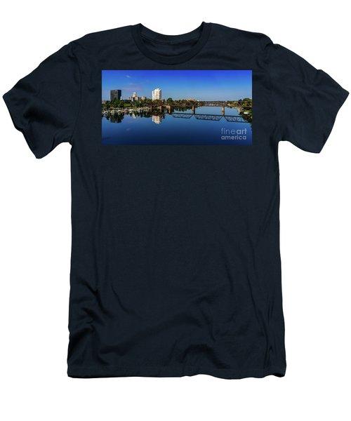 Augusta Ga Savannah River Panorama Men's T-Shirt (Athletic Fit)