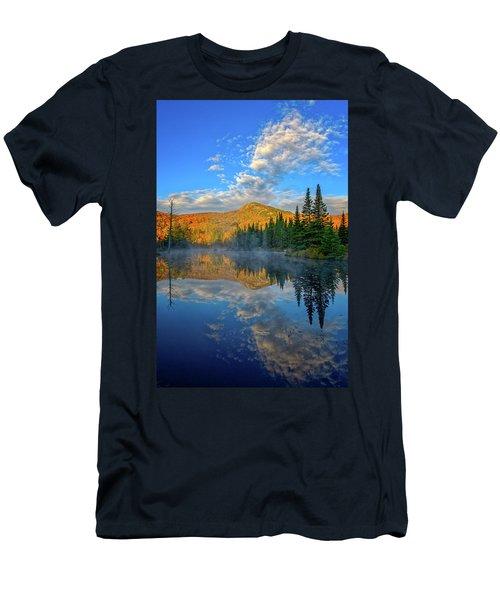 Autumn Sky, Mountain Pond Men's T-Shirt (Athletic Fit)