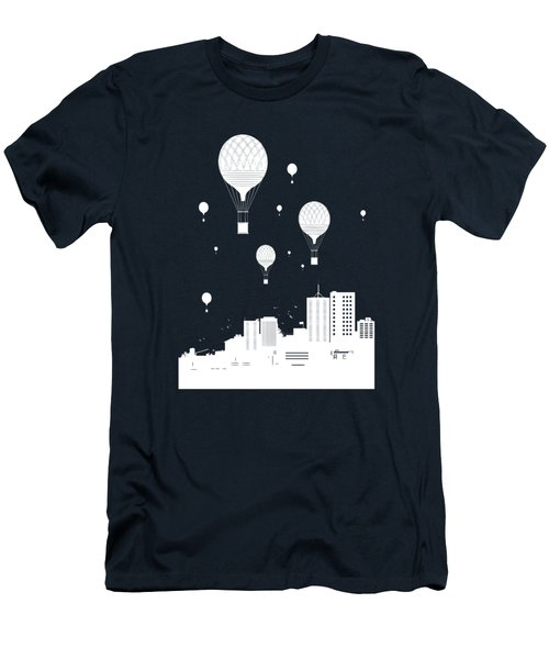 Balloons And The City Men's T-Shirt (Athletic Fit)