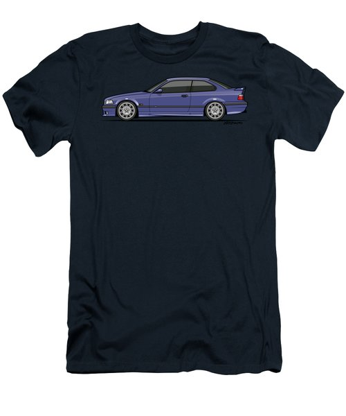Bavarian E36 3-series M-drei Coupe Techno Violet Men's T-Shirt (Athletic Fit)