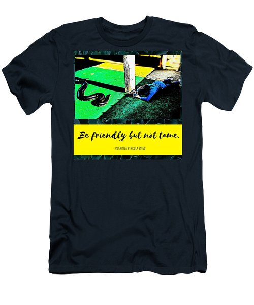 Men's T-Shirt (Athletic Fit) featuring the photograph Be Friendly But Not Tame by Judy Kennedy